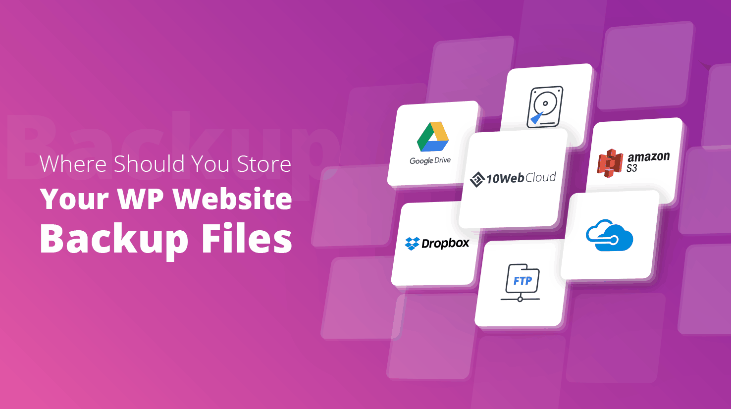 Website Backups and WordPress Backups in Amazon S3 And Dropbox